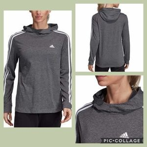 NWT Adidas Women's Jersey Hoodie - Heather Gray